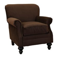 Charles Fabric Rolled Club Chair