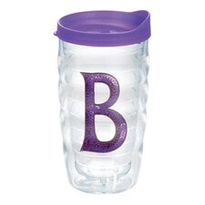 "Initials Sequins ""B"" 10 Oz. Tumbler with Lid"