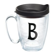 "Initials ""B"" Deco 15 Oz. Mug with Lid"
