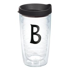 "Initials ""B"" Deco 16 Oz. Tumbler with Lid"