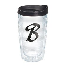 "Initials ""B"" Scroll 10 Oz. Tumbler with Lid"