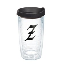 """Initials """"Z"""" Scroll 16 Oz. Tumbler with Lid"""