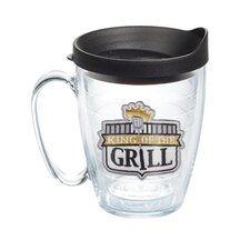 Eat Drink Be Merry King of the Grill Mug with Lid