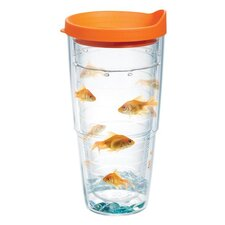 Pets Goldfish 24 Oz. Tumbler with Lid