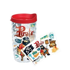 Totally Kids Pirate Collage 10 Oz. Wavy Tumbler with Lid