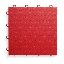 "12"" x 12""  Garage Flooring Tile in Red (Set of 30)"