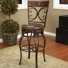"Treviso 34"" Swivel Bar Stool with Cushion"
