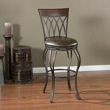 "Palermo 26"" Swivel Bar Stool with Cushion"
