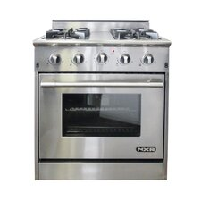 4.2 Cu. Ft. Gas Convection Range in Stainless Steel