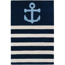 Tufted Pile Sailor Blue Area Rug