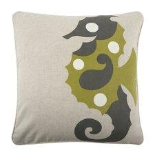 """Seahorse 18"""" Linen Throw Pillow"""