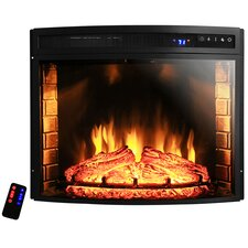 "28"" Curved Electric Fireplace Insert"