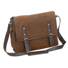 "The Irwin 15.6"" Flap Over Leather Laptop Messenger Bag"