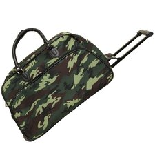 "Camouflage 21"" 2 Wheeled Duffel"