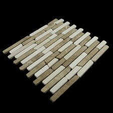 Natural Stone Sticks Mosaic Tile in Tan and White Blend