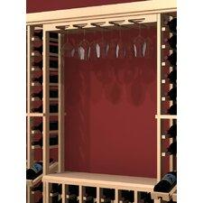 Rustic Pine Wall Mounted Wine Glass Rack