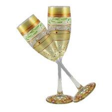 Mosaic Garland Champagne Glass (Set of 2)