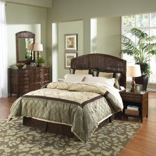 Polynesian Panel 4 Piece Bedroom Set