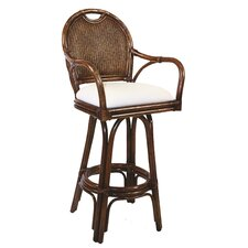 "Classic 24"" Swivel Bar Stool with Cushion"