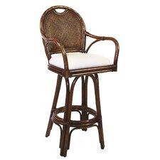 "Classic 24"" Swivel Bar Stool with Cushion"