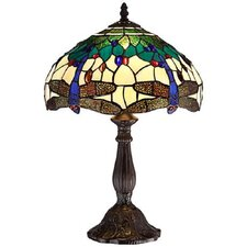 Dragonfly Tiffany Table Lamp with Bowl Shade