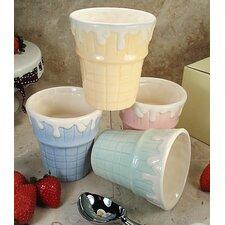 Ceramic Ice Cream Cup (Set of 4)