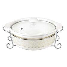 Eleven 2.5-qt Porcelain Round Casserole with Lid