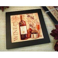 Wine Tasting Design Ceramic Trivet