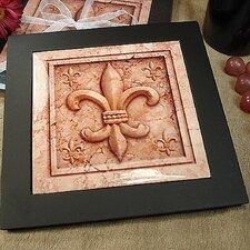Fleur De Lis Design Ceramic Trivet