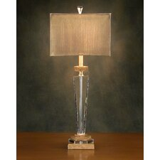 """Crystal Metal 32"""" H Table Lamp with Square Shade"""