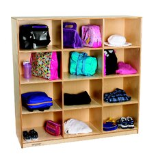 4-Section Cubby Mobile Storage Locker