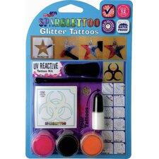 16 Piece UV/Blacklight Glitter Tattoo Set