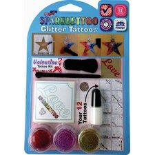 16 Piece Valentines Glitter Tattoo Set