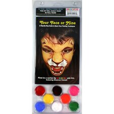 Face Paint and 56 Page How To Booklet, Your Face Or Mine, 8 Face Paint Colors