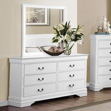 Mayville 6 Drawer Dresser with Mirror
