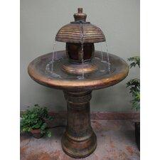Garden Fiberglass Resin Tiered Fountain