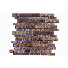 Upscale Designs Random Sized Porcelain, Natural Stone, Metal, Glass, Ceramic Mosaic Tile in Metallic Brown