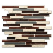 Peel & Stick Mosaic Tile in Brown, Tan and Silver