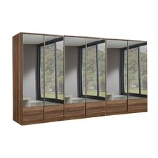 Jugan Mirrored 6 Door Wardrobe