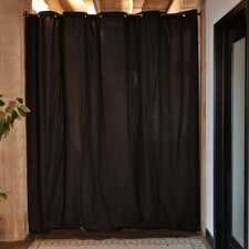 "Fabric Room Divider Curtain, 96"" Tall x 180"" Wide Panel"