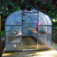 8 Ft. W x 12.5 Ft. D Acrylic and Aluminum Greenhouse