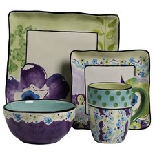 Happiness 4 Piece Square Place Setting