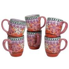 Hearts and Flowers 16 Ounce Mug (Set of 6)
