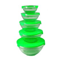 10-Piece Nested Glass Bowl (Set of 2)