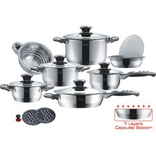 16 Piece 7 Stainless Steel Layer Cookware Set