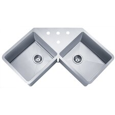 "Speciality Series 44.38"" x 23.5"" Butterfly Corner Kitchen Sink"