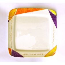 """Joyful 12.5"""" Square Fruit and Cake Platter"""