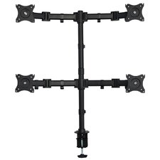 "32.18"" H x 33.18"" W Height Adjustable 4 Screen Desk Mount Stand"