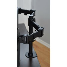 "18.75"" H x 33.18"" W Height Adjustable Dual Screen Desk Mount"