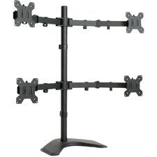 """Quad LCD Monitor Free Standing Adjustable 4 Screens upto 24"""" Desk Stand/Mount"""